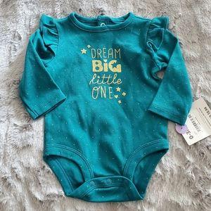 Carter's Green Onesie Size 0-3M NEW